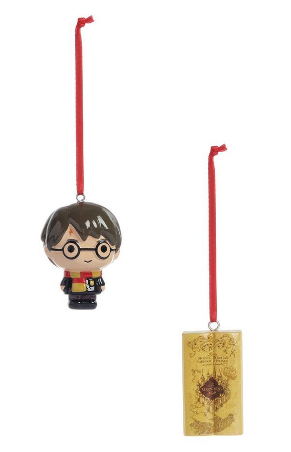 Pack de 2 adornos navideños de Harry Potter