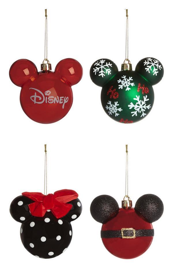 Kerstballen Disney Mickey Mouse, 4 stuks