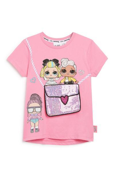 Camiseta con bolso estampado de Lol Dolls para niña