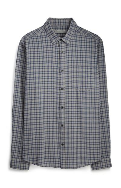 Gray Check Flannel Shirt