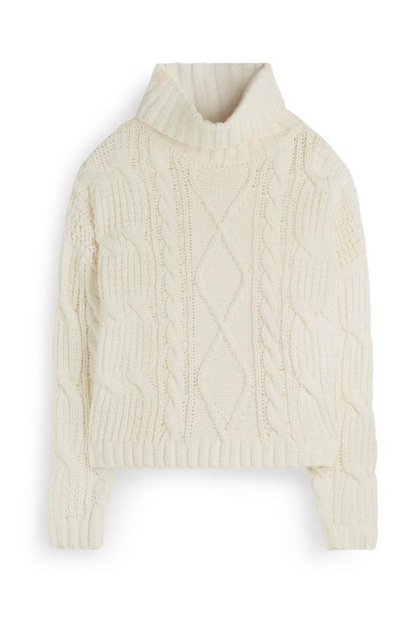 Ivory Roll Neck Sweater