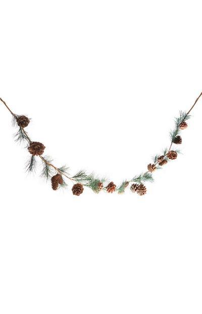Grinalda Natal cones pinheiro
