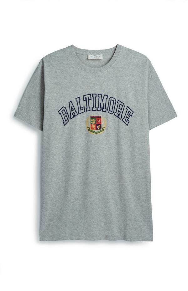 Gray Baltimore Crest T-Shirt