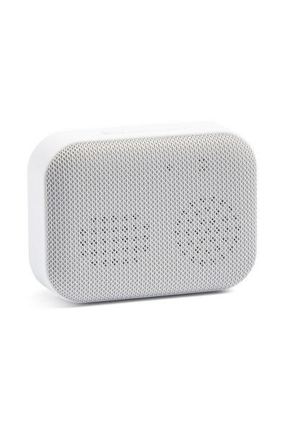 Altavoz blanco inalámbrico con Bluetooth