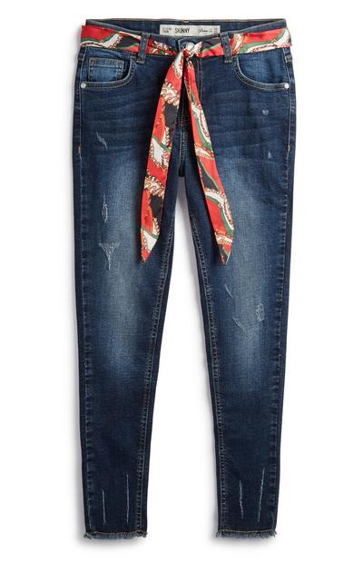 Older Girl Jeans With Scarf Belt