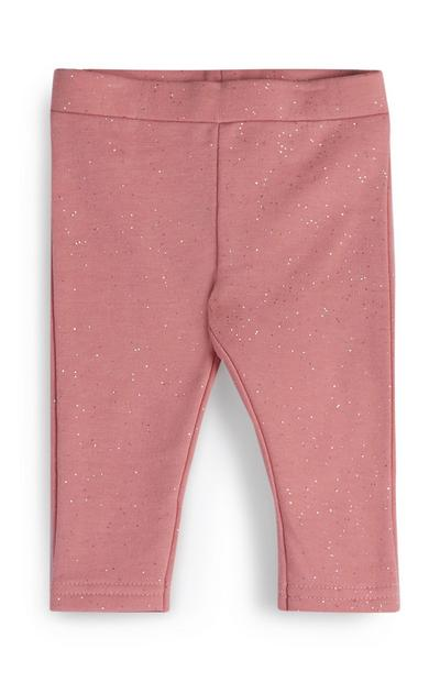 Baby Girl Pink Sparkle Leggings