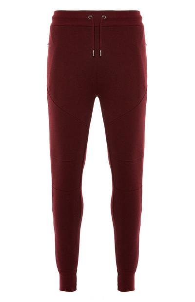 Wine Slim Drawstring Joggers