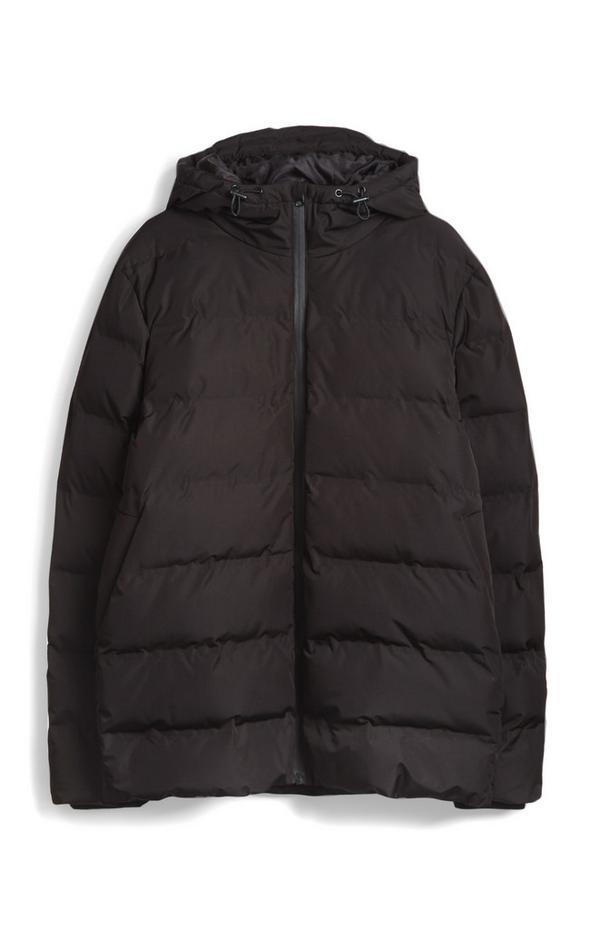 Black Sport Padded Puffercoat