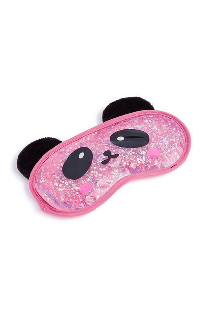 Roze gel-oogmasker panda