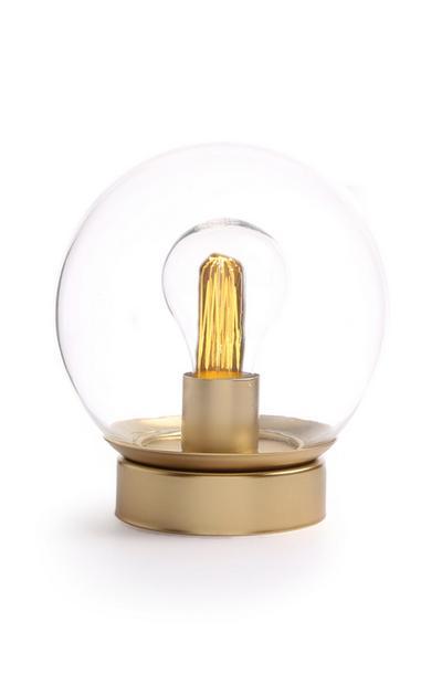 Lampada a globo color oro