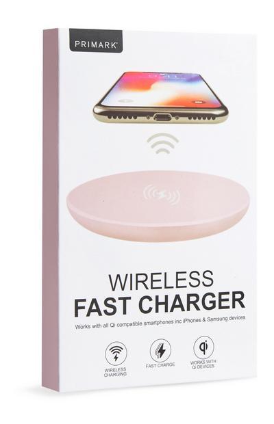 Roze draadloze snellader