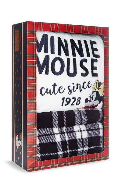 Caixa oferta pijama tecido polar Minnie vermelho
