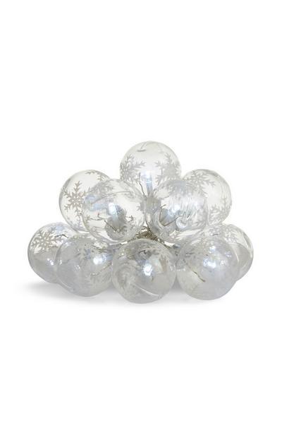 Guirlande de LED boules de neige