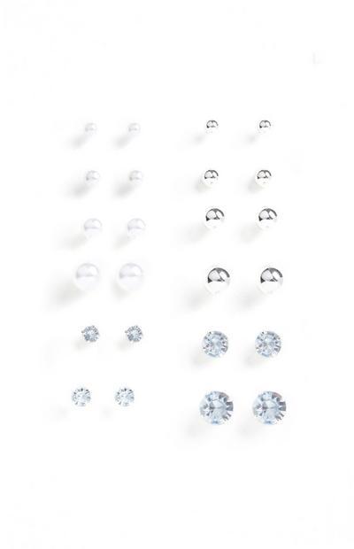 12-Pack Stud Earrings