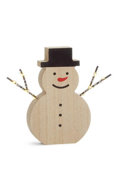 Okrasek za osvetlitev snežak