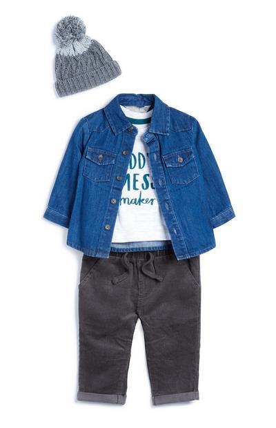 4-teiliges Jeans-Outfit für Babys