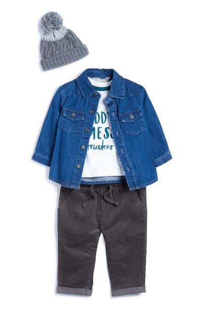 Baby-jeansoutfit, 4-delig