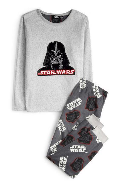 Older Boy Grey Soft Star Wars Pyjamas 2Pc