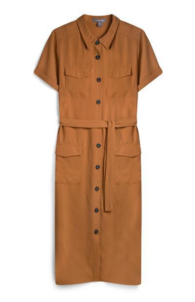 Vestido prático cor de laranja