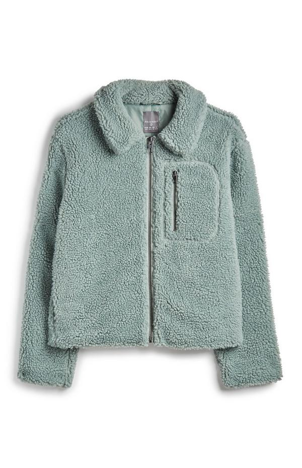 Pale Blue Borg Jacket