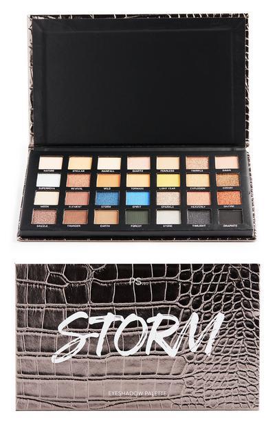 Paleta de sombras de ojos Storm en 28 tonos
