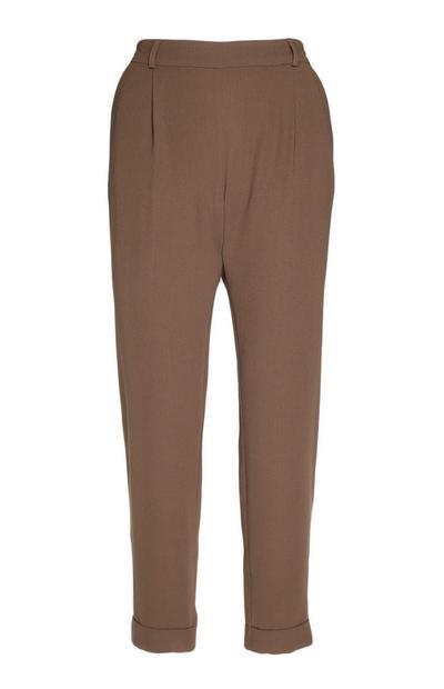 Brown Pegged Pants