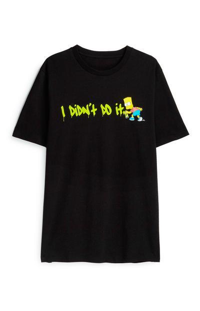 Zwart T-shirt Bart Simpson