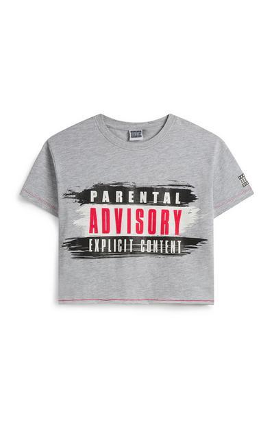 T-shirt curta Parental Advisory