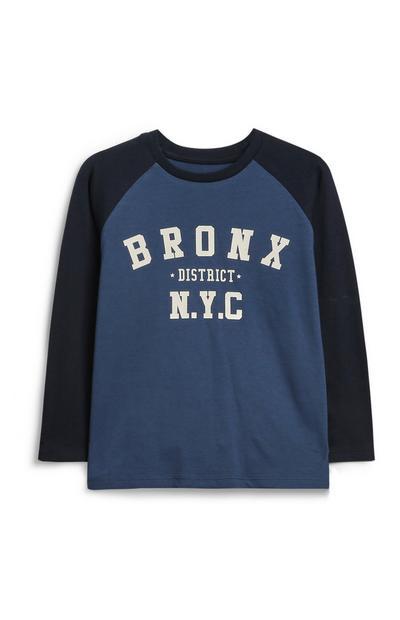 Modra majica za mlajše dečke NYC
