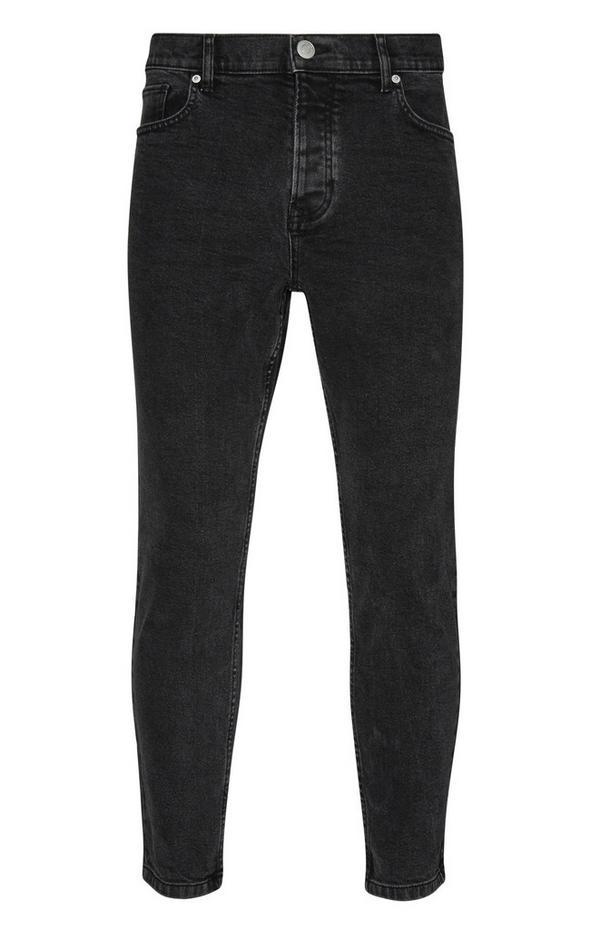 Calças de ganga justas elásticas preto