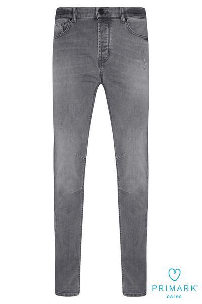 Grijze slim-fit jeans van duurzaam katoen