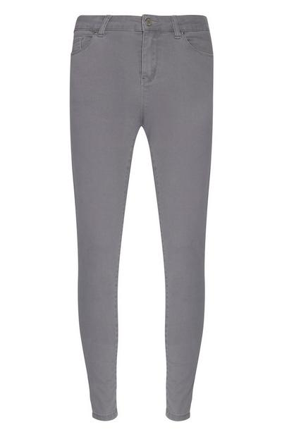 Gray Super Stretch Skinny Jeans