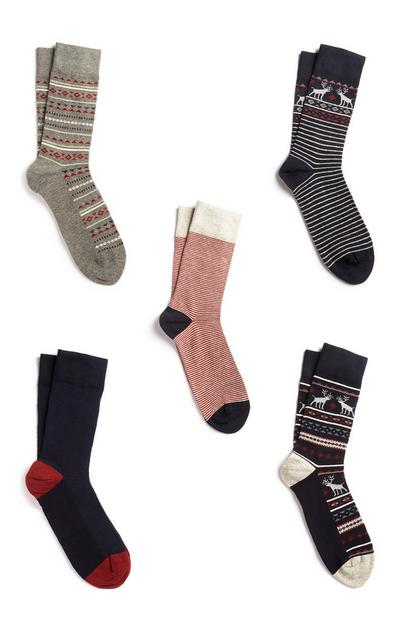 Christmas Socks 5Pk