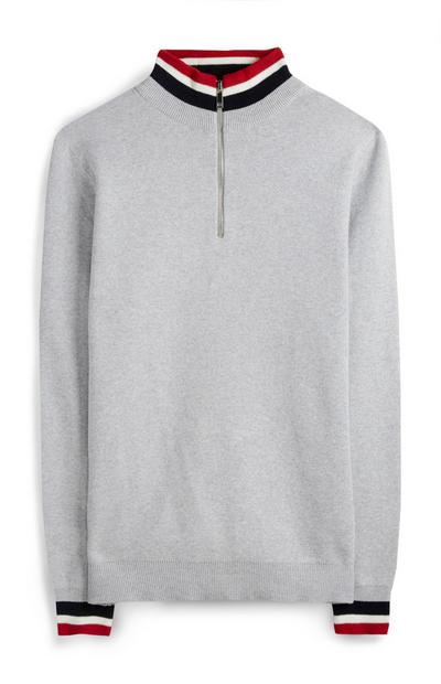 Gray Tipped Sweater