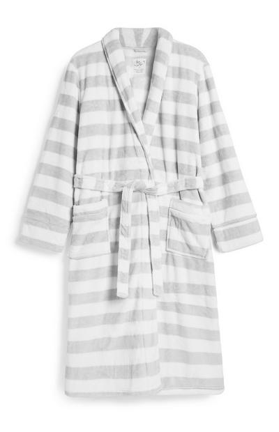 Grey Stripe Dressing Gown