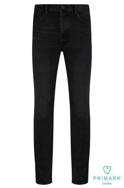 Jean coupe droite foncé délavé en coton durable