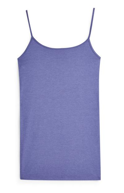 Purple Slouchy Vest Top