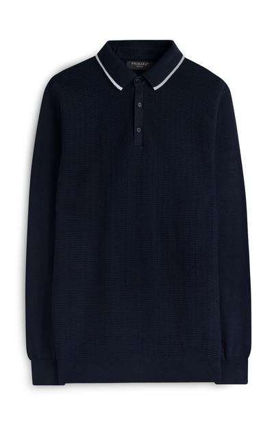 Navy Knit Polo