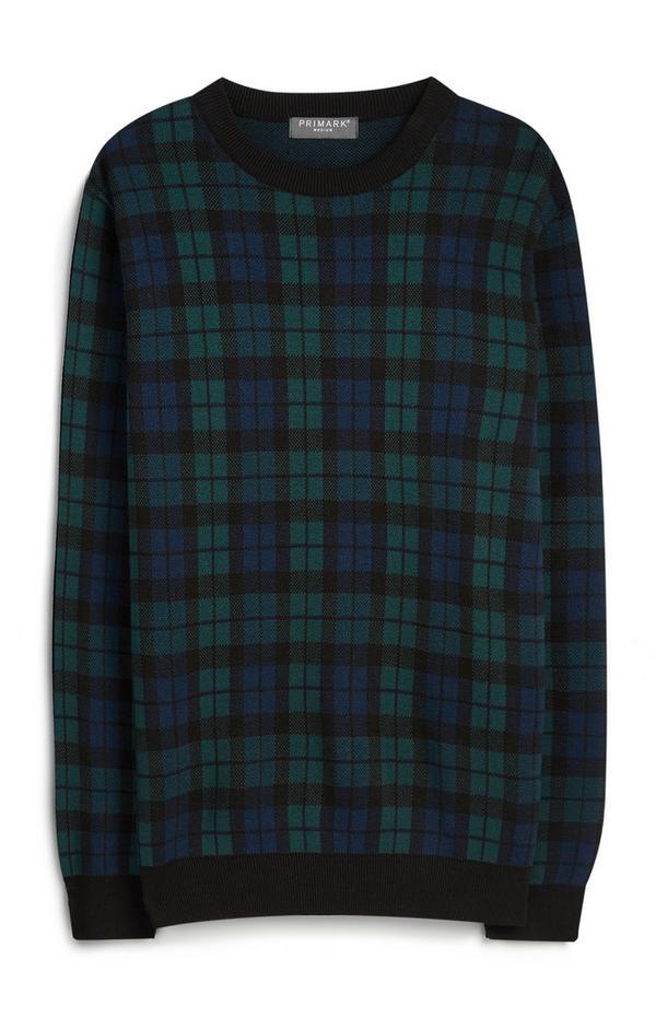 Camisola xadrez verde