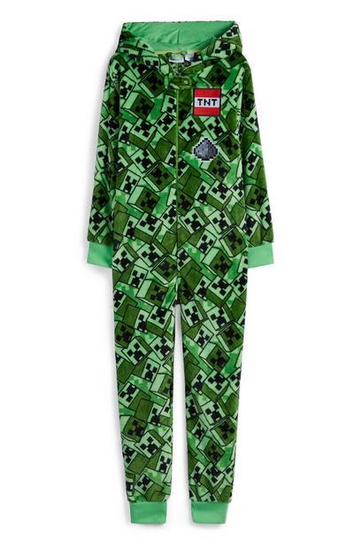 Onesie met groene tinten voor jongens