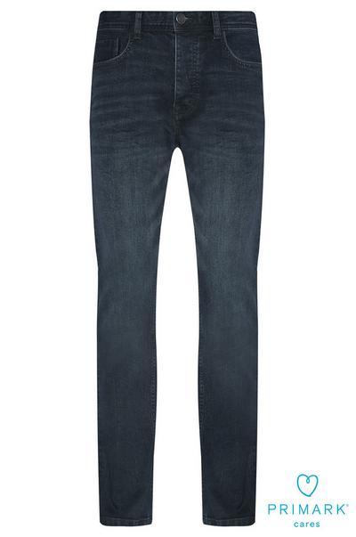 Jeans a gamba dritta in cotone sostenibile