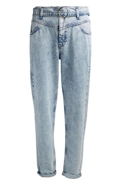 Jeans mit heller Waschung