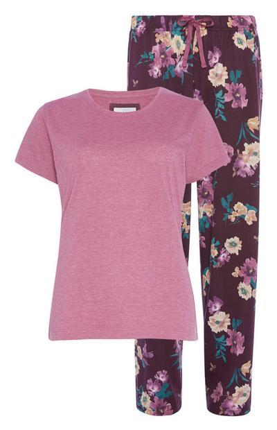 Pijama padrão floral algodão sustentável