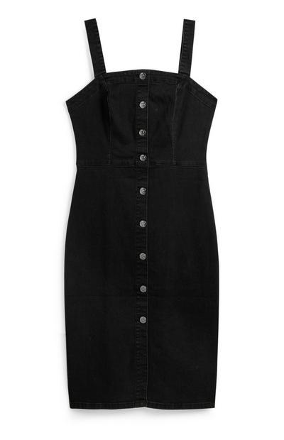 Vestido midi ganga preto