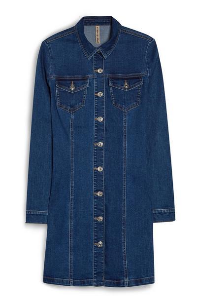 Mini-robe en jean