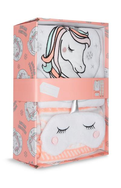 Coffret-cadeau avec pyjama licorne