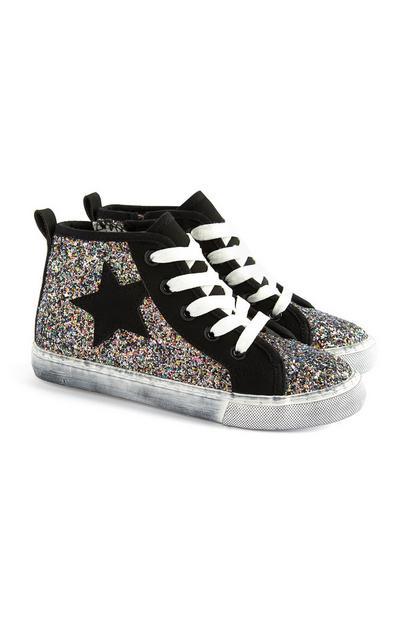 Zapatillas brillantes para niña mayor