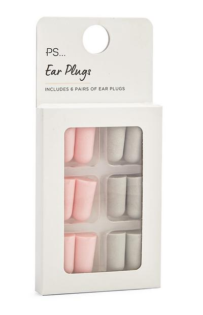 6-Pack Pink And Gray Ear Plugs