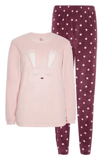 Pyjama met konijnenprint