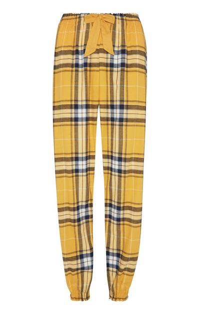 Pantalon de pyjama jaune en flanelle
